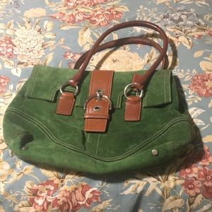 Coach green shade bag